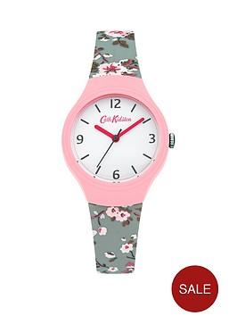 cath-kidston-cath-kidston-trailing-rose-slate-white-dial-blue-silicone-printed-strap-ladies-watch