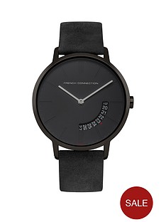 french-connection-french-connection-newgate-black-dial-grey-leather-strap-mens-watch