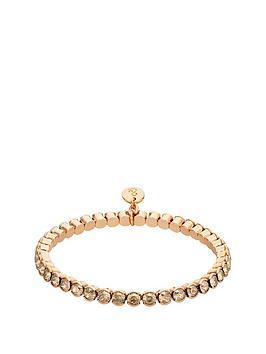 lola-and-grace-lola-amp-grace-rose-gold-plate-crystal-stretch-bracelet-made-with-swarovski-elements