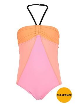 river-island-girls-orange-colour-block-swimsuit