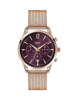 henry-london-henry-london-hampstead-purple-chronograph-dial-rose-tone-mesh-bracelet-ladies-watch