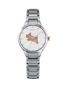radley-radley-on-the-run-white-dog-dial-silver-tone-bracelet-ladies-watch