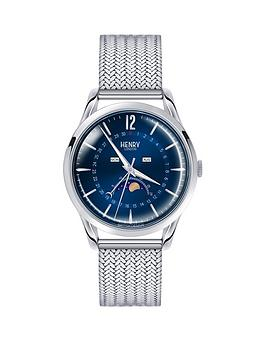 henry-london-henry-london-knightsbridge-blue-moon-face-dial-silver-tone-mesh-bracelet-mens-watch