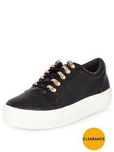 river-island-hiker-lace-up-detail-trainer