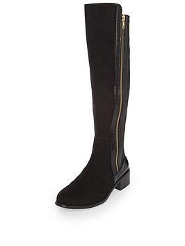 river-island-flat-knee-high-zip-side-boot