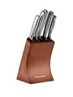 morphy-richards-accents-5-piece-knife-block-set-in-copper