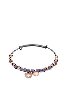 hot-diamonds-emozioni-sterlingnbspsilver-purple-and-rose-tone-heart-bangle
