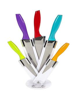 morphy-richards-cook-in-colour-5-piece-knife-block-set