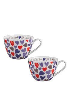 portobello-by-inspire-watercolour-hearts-bone-china-wilmslow-mugs-ndash-set-of-2