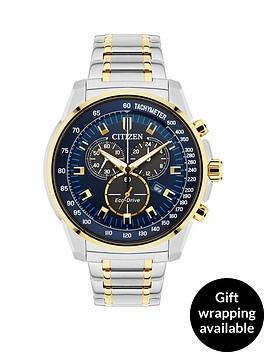 citizen-citizen-eco-drive-blue-dial-chronograph-two-tone-stainless-steel-bracelet-mens-watch