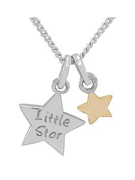 keepsafe-keepsafe-sterling-silver-little-star-childrens-pendant-with-9ct-gold-star-charm