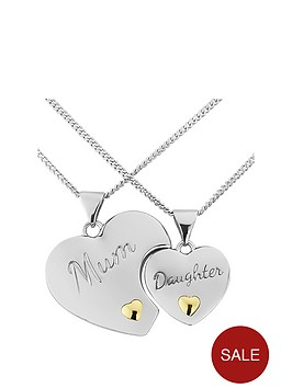 keepsafe-keepsafe-personalised-sterling-silver-split-mum-and-daughter-pendants-with-9ct-gold-hearts