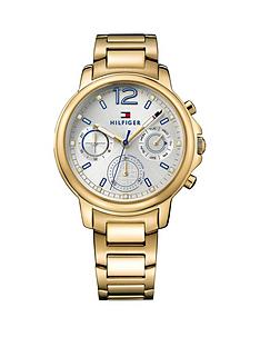 tommy-hilfiger-tommy-hilfiger-caludia-silver-multi-function-dial-gold-tone-bracelet-ladies-watch