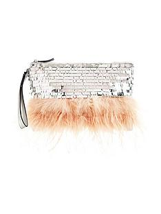 miss-selfridge-feather-clutch-bag