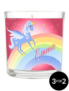 personalised-love-unicorns-scented-candle