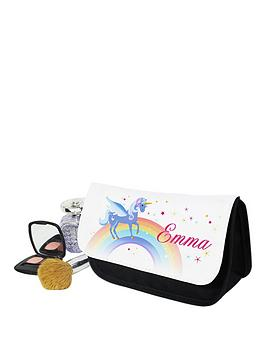 personalised-love-unicorns-cosmetic-bag