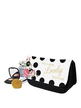 personalised-floral-polka-dot-cosmetic-bag