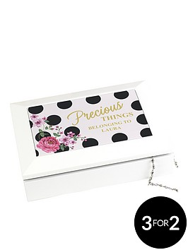 personalised-floral-polka-dot-jewellery-box