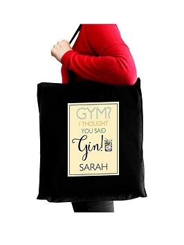personalised-gym-i-thought-you-said-gin-tote-bag