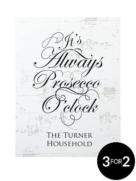 personalised-its-always-prosecco-oclockhellip-canvas