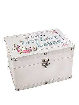 personalised-live-love-laugh-leatherette-keepsake-box