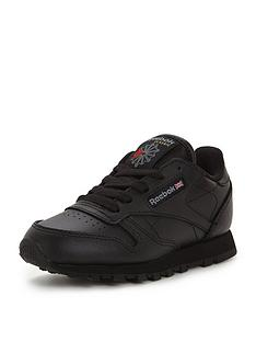 reebok-classic-leather-childrens-trainers-black