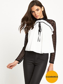 tfnc-azia-high-neck-lace-ls-bow-top