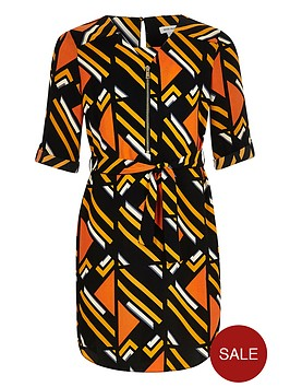 river-island-girls-orange-stripe-shirt-dress