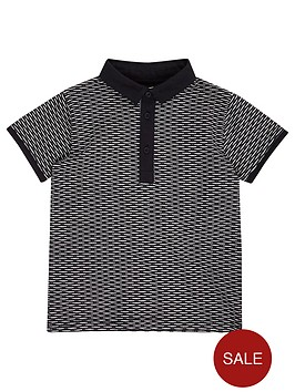 river-island-mini-boys-navy-jacquard-polo-shirt