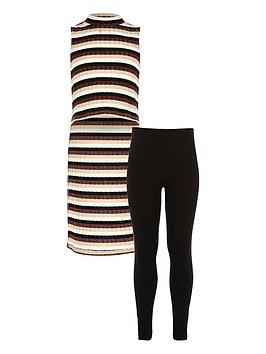 river-island-lurex-stripe-tunic-amp-leggings-set