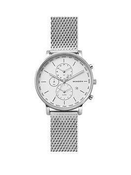 skagen-skagen-hagen-white-dial-world-time-silver-tone-mesh-bracelet-mens-watch
