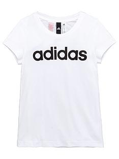 adidas-older-girls-linear-logo-tee
