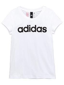 adidas-older-girls-linear-logo-tee