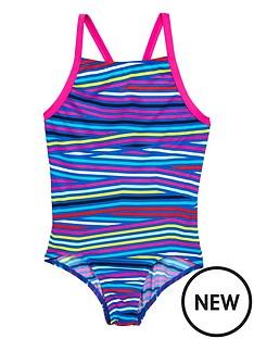 adidas-adidas-older-girls-stripe-swimsuit