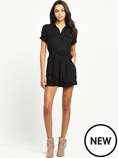 superdry-boho-utility-playsuit-black