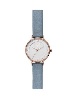 skagen-skagen-anita-white-dial-blue-leather-strap-ladies-watch