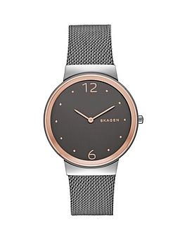 skagen-skagen-freja-grey-dial-grey-mesh-bracelet-ladies-watch