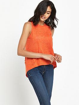 river-island-river-island-orange-sleeveless-knitted-top