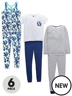 v-by-very-girls-floral-and-stripe-pyjamas-6-piece
