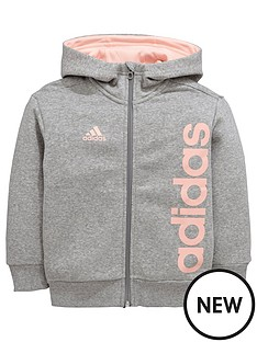 adidas-younger-girls-linear-fz-hoody