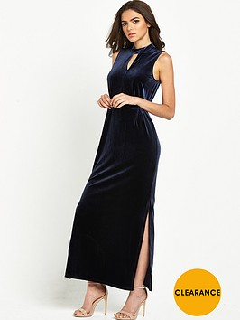 vero-moda-velvet-keyhole-ankle-dress