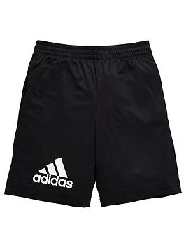 adidas-older-boys-jersey-shorts-black