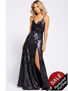 myleene-klass-wrap-sequin-maxi-dress-black