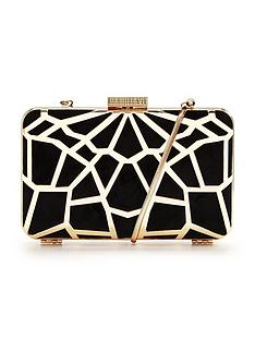 v-by-very-cutwork-hard-box-clutch