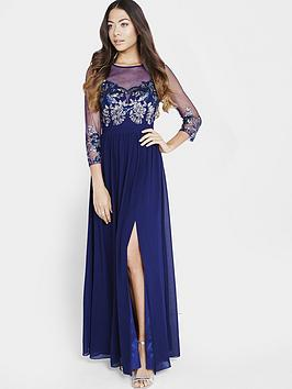 little-mistress-little-mistress-embellished-sheer-maxi-dress