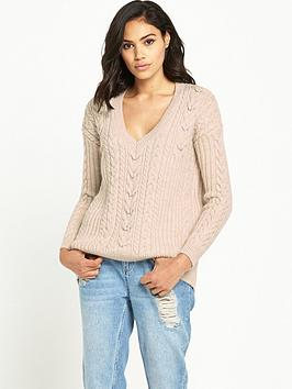river-island-v-neck-cable-knit-jumper