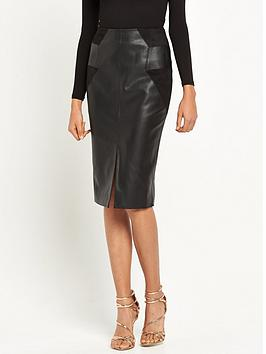 river-island-pu-patchwork-pencil-skirt