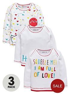 ladybird-baby-unisex-bear-and-slogan-long-sleeve-t-shirts-3-pack