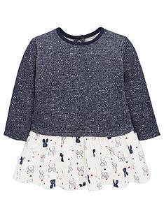 ladybird-baby-girls-bunny-print-mock-jumper-dress