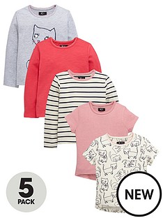 mini-v-by-very-girls-print-and-solid-colour-t-shirts-5-pack